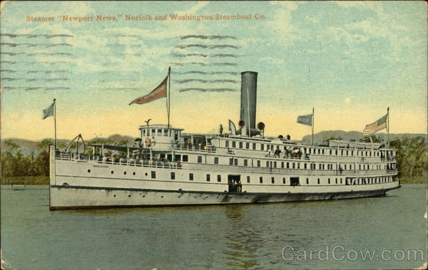 Steamer Newport News, Norfolk and Washington Steamboat Co