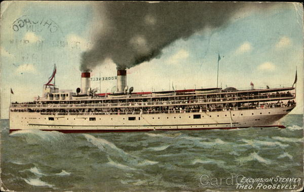 Excursion Steamer, Theo. Roosevelt Boats, Ships