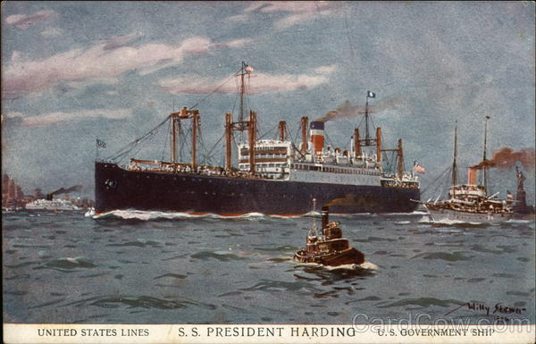 United States Lines S.S. President Harding, U.S. Government Ship