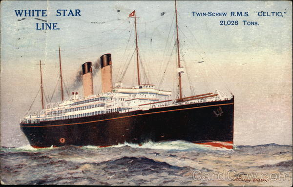 Twin-Screw RMS Celtic - 21,026 Tons - White Star Line