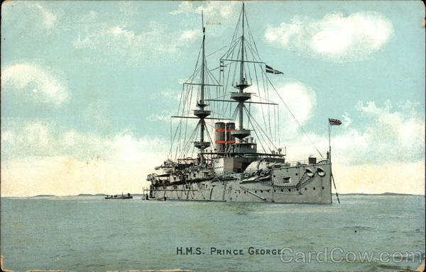 HMS Prince George on the Water Boats, Ships