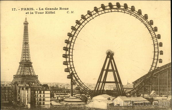 La Grande Roue et la Tour Eiffel Paris France