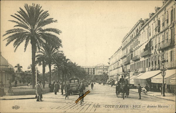 1868. Cote d'Azur - Nice - Avenue Massena France