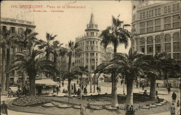 Plaza de la Universidad Barcelona Spain Spain, Portugal