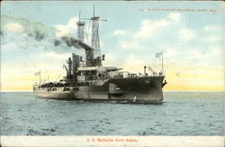 US Battleship North Dakota Postcard