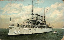"Battleship ""New Jersey"" on the Water"