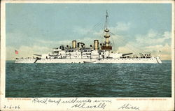 USS Oregon on the Water