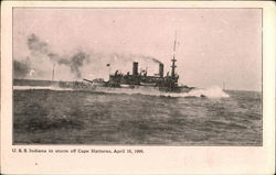 USS Indiana in storm off Cape Hatteras, April 16, 1906