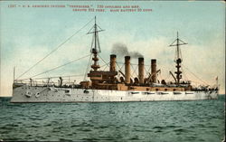"1285 - U. S. armored cruiser ""Tennessee."""