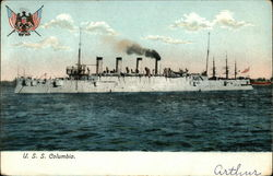 USS Columbia on the Water