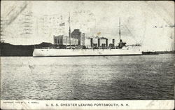 USS Chester Leaving Portsmouth, NH