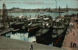 U.S. Torpedo Fleet, Torpedo Boats and Destroyers in Harbor at a United State Navy Yard