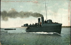 Torpedo Boat Morris, Going at Full Speed and Firing Torpedo