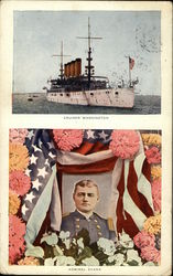 Cruiser Washington, Admiral Evans