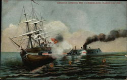 Virginia sinking the Cumberland, March 8th 1862