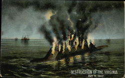 Destruction of the Virginia, May 11, 1862