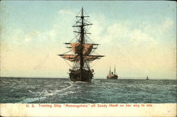 U.S. Training Ship Monongahela off Sandy Hook on her Way to Sea