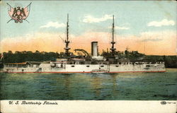 US Battleship Illinois on the Water