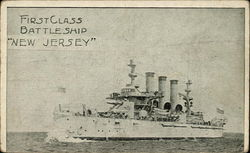 "First Class Battleship ""New Jersey"""