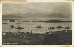 View of Fleet at Molde, Norge (Norway)