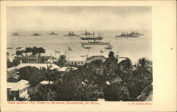 View Showing U.S. Fleet in Harbour, Basseterre, St. Kitts