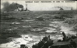 German Fleet Proceeding in Line to Surrender