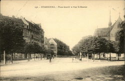Strasbourg, Place Arnold et Rue St. Maurice