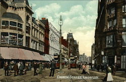 View Of Church Street In Liverpool