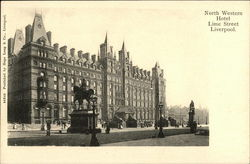 North Western Hotel, Lime Street Postcard