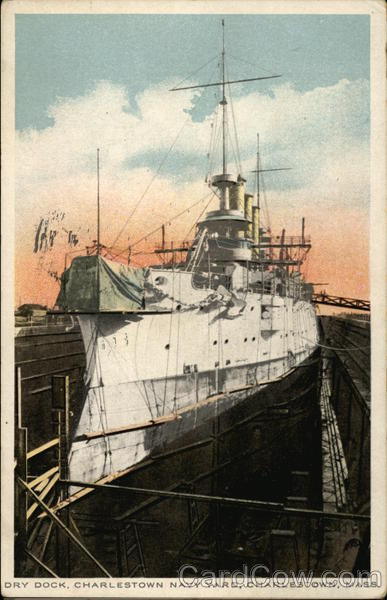 Dry Dock, Charlestown Navy Yard Massachusetts