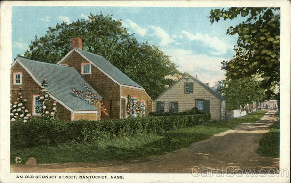 Old Sconset Street Nantucket Massachusetts