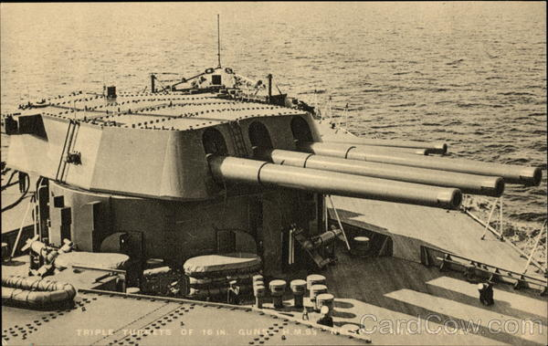 Triple Turrets of 16 in. Guns - H.M.S.'s Nelson and Rodney England
