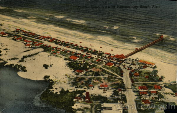 Aerial View of Beach Panama City Florida