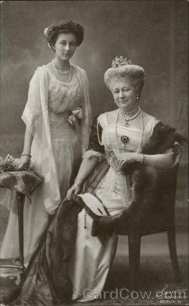 Portrait of Royal Woman and Daughter Royalty