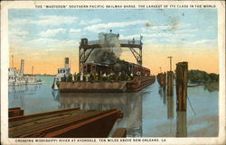 The Mastodon, Southern Pacific Railway Barge, the Largest of its Class in the World