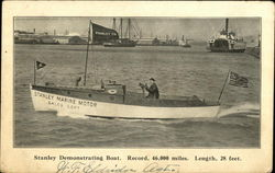 Stanley Demonstrating Boat, Record, 46,000 Miles, Length 28 Feet