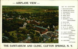 Airplane View of Sanitarium and Clinic