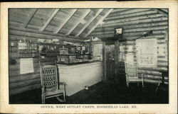 West Outlet Camps - Office, Moosehead Lake