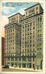 Commonwealth-Atlantic National Bank Building, Post Office Square Postcard