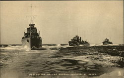 Destroyers of the Second Flotilla at Speed