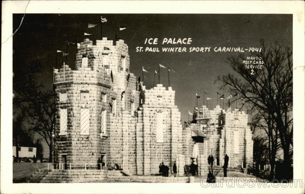 Ice Palace, St. Paul Winter Sports Carnival, 1941 Minnesota