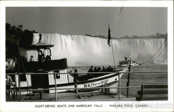 Sight-Seeing Boats and American Falls Niagara Falls Canada
