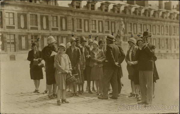 Tourists at Palace of Versailles France
