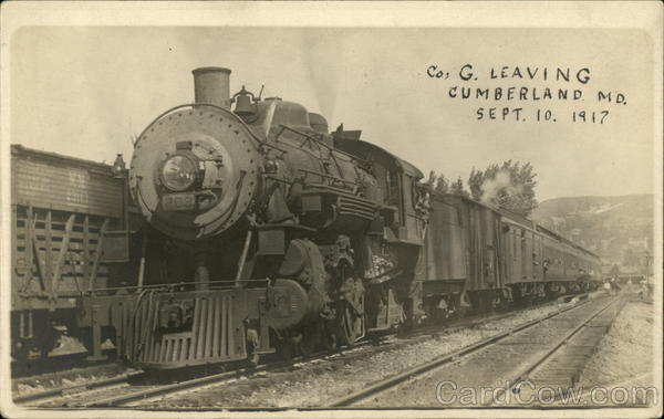 Co. G Leaving Cumberland, Md., Sept. 10, 1917 Maryland