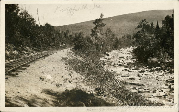 Railroad Track and Brook Kingfield Maine