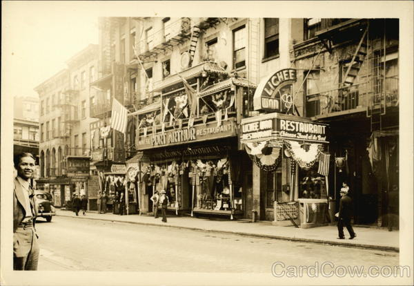 Port Arthur Restaurant and Downtown Scene - Chinatown New York City
