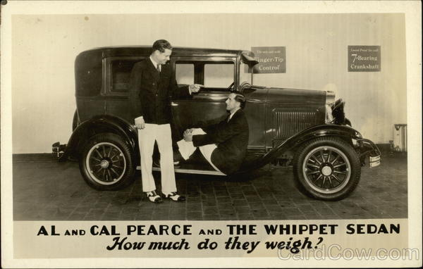 Al and Cal Pearce and The Whippet Sedan, How Much do They Weigh?