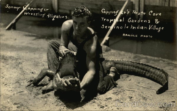 Sonny Coppinger Wrestling Alligators Miami Florida