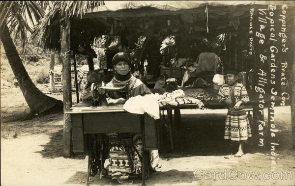 Seminole Indians - Sewing Miami Florida