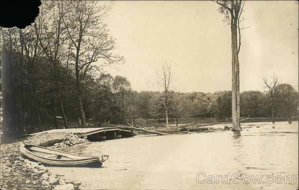 Boat on Shore of Lake Eara Libertyville Illinois